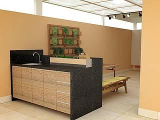Área Gourmet Varandas, alpendres e terraços rústicos por CrieAtive Arqdesign Rústico