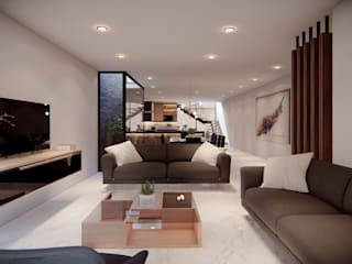 Minimalist living room by Ancla Imports S.A. de C.V. Minimalist