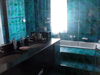 Arch. Sara Pizzo - Studio 1881 Mediterranean style bathrooms Tiles Turquoise
