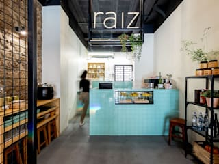 Qiarq . arquitectura+design Industrial style gastronomy Tiles Green