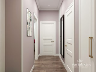 Eclectic style corridor, hallway & stairs by variatika Eclectic