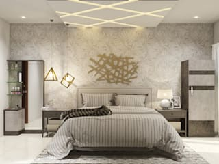 Master Bedroom Urban Closet Classic style bedroom Plywood Amber/Gold