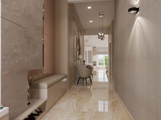De Panache Ingresso, Corridoio & Scale in stile moderno Laterizio Beige