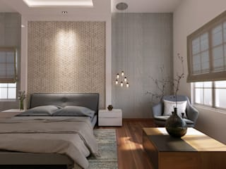 De Panache Camera da letto piccola Compensato Bianco