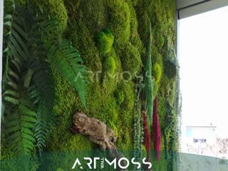 Teras/Balkon Yosun Duvar Uygulaması Dikey Bahçe & Yosun Duvar - Art Wall Moss Akdeniz