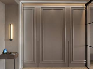 De Panache Ingresso, Corridoio & Scale in stile moderno Compensato Beige