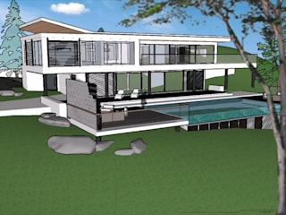 Dikey Bahçe Sistemi - Villa Projesi Modern Bahçe Dikey Bahçe & Yosun Duvar - Art Wall Moss Modern