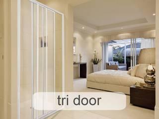 Aluminium Shower Door Types - Which One Fits Best? Minimal style Bathroom by Origin Aluminium Group Holdings (Pty) Ltd Minimalist