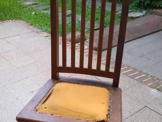 Renovación de una silla#antes y después,con tapicería renovada también 🌹 de ANADECO - Decoradora y Diseñadora de Interiores - La Plata Clásico