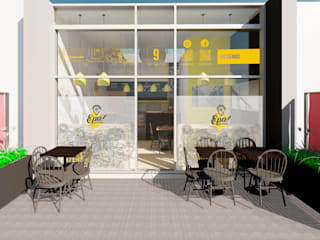Diseño interior restaurante Epa! Ideaszfab Restaurantes