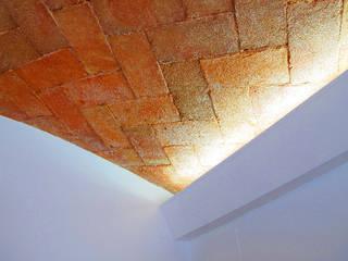 REFORMA D'UN HABITATGE ENTRE MITGERES - REFORMA DE UNA VIVIENDA ENTRE MEDIANERAS Salones de estilo mediterráneo de FARRIOL i COL.LABORADORS arquitectes Mediterráneo