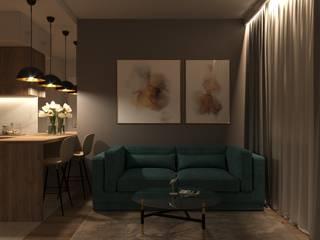 Дизайн-проект двухкомнатной квартиры Кухня в стиле минимализм от Анастасия Буц Минимализм