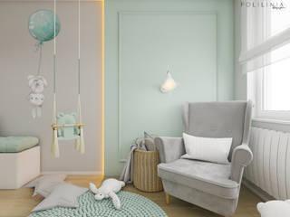 Pokój dziecięcy - mieszkanie Katowice #3 Nowoczesny pokój dziecięcy od Polilinia Design Nowoczesny