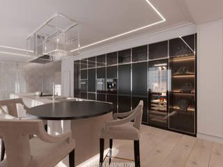 Minimalist dining room by Студия дизайна интерьера Руслана и Марии Грин Minimalist