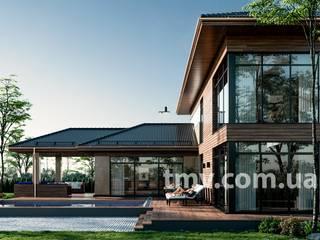 Индивидуальный проект стильного особняка 600 м2 от TMV Architecture company