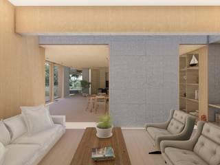 Casa Santa Catalina Salas modernas de Cóncavas Ingenieros y Arquitectos Moderno