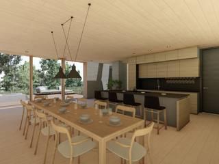 Casa Santa Catalina Comedores de estilo moderno de Cóncavas Ingenieros y Arquitectos Moderno