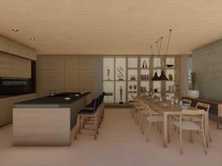 Casa Santa Catalina Cocinas modernas de Cóncavas Ingenieros y Arquitectos Moderno