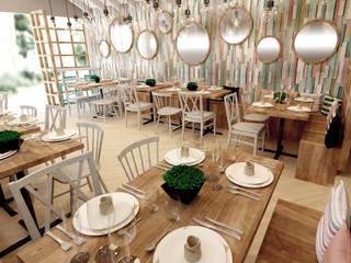 Diseño interior restaurante La Nona Ideaszfab Restaurantes
