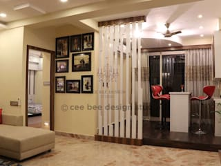 3 BHK Interior Design Transformation in Kolkata – Beautiful Modern Home – Mrs. Poly Pan Modern living room by Cee Bee Design Studio Modern