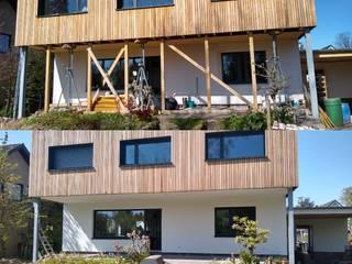 Neue Fassade Exellentworkers Passivhaus Holz Weiß