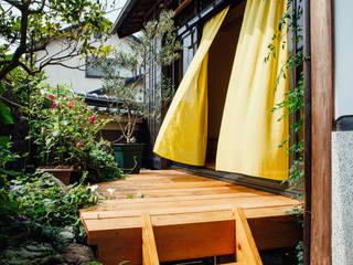伏見の家(リノベーション) 和風デザインの テラス の a.un 建築設計事務所 和風