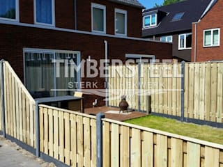 Houtbeton schutting in Amsterdam Moderne tuinen van Timbersteel Modern