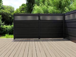 Clôture en bois composite Sylneo Jardin minimaliste
