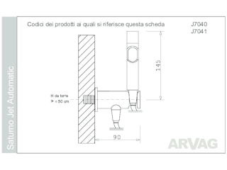 ARVAG SRL Modern Bathroom Copper/Bronze/Brass Metallic/Silver