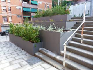 URBANIZACIÓN DE LA PLAZA SALVADOR ALLENDE, BARCELONA Arantxa Mogilnicki Arquitectura i Paisatge Jardines de estilo mediterráneo Granito Marrón