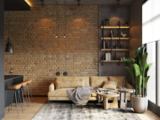 Industrial style living room by YOUSUPOVA Industrial