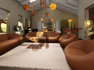 Un living dall'atmosfera vibrante Soggiorno moderno di Teresa Romeo Architetto Moderno