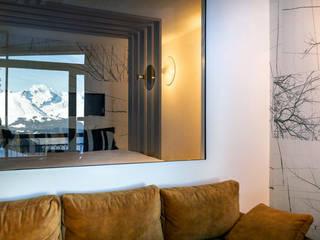 Rénovation d'un Châlet - Architecture intérieur & Agencement Salon moderne par Studio Bérengère Durret Moderne