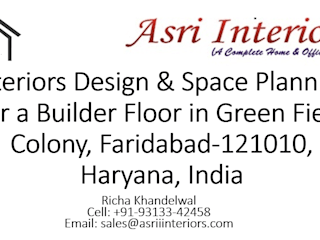 Interiors Design & Space Planning for a Builder Floor (Green Field) by Asri Interiors Faridabad Asian style living room by Asri Interiors Asian