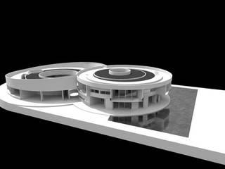 Estudo para 6 casas experimentais em pátio por Jorge Cruz Pinto + Cristina Mantas, Arquitectos
