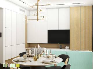 Phòng khách phong cách tối giản bởi Мастерская интерьера Юлии Шевелевой Tối giản
