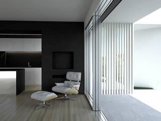 Casa em Sagres Salas de estar minimalistas por Lines & Narratives Minimalista