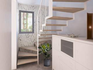 Modern corridor, hallway & stairs by Arch. Rosalba Di Maio Modern