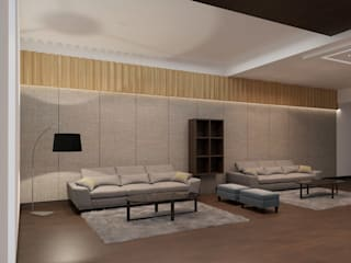 Residence- Mr. Wadhwa Classic style living room by Studio Ezube Classic