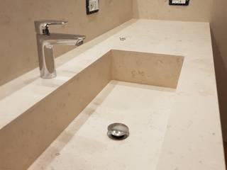 Marmo Crema Luna per un bagno discreto EFFE4 MARMI Bagno moderno Marmo Beige