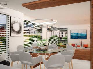 Modern dining room by Citlali Villarreal Interiorismo & Diseño Modern