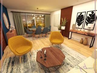 Arisu Cavero - Arquitectura de Interiores Eclectic style dining room