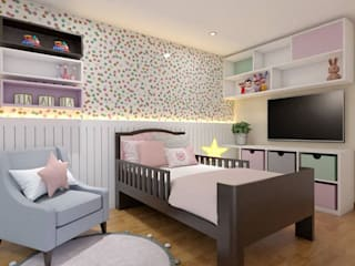 Diseño de Dormitorio para Niña - San Borja de Katherine Quijano - Arquitectura Moderno