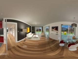 das3Dstudio - Design & 360 Grad Virtual Reality & Visualisierung - Made in Germany das3Dstudio Moderne Wohnzimmer Mehrfarbig