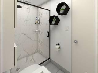 Arisu Cavero - Arquitectura de Interiores Minimalist style bathroom