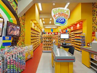 Projeto Comercial - Rede de alimentos Rubiana teixeira Barbosa ME Espaços comerciais modernos Azulejo Multi colorido