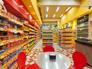 Projeto Comercial - Rede de alimentos Rubiana teixeira Barbosa ME Edifícios comerciais modernos Azulejo Amarelo
