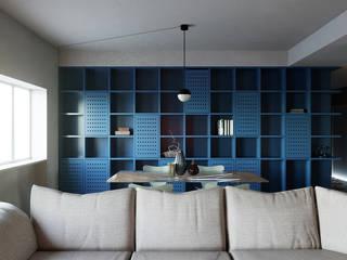 Grippo + Murzi Architetti Salas de estar minimalistas