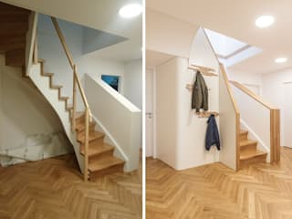 TREPPENAUFGANG: RUNDUM GUT VERKLEIDET Moderner Flur, Diele & Treppenhaus von Lu Interior Berlin Modern
