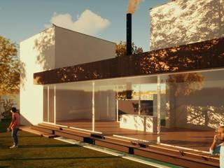 Moradia uni-familiar em Tojal Casas modernas por L.A.D Atelier Moderno